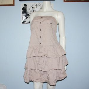 Ruffled Khaki Dress By DEB 2X